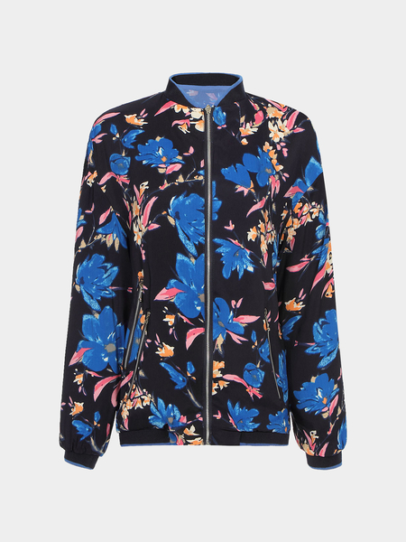 Blue Bomber Jackets In Print