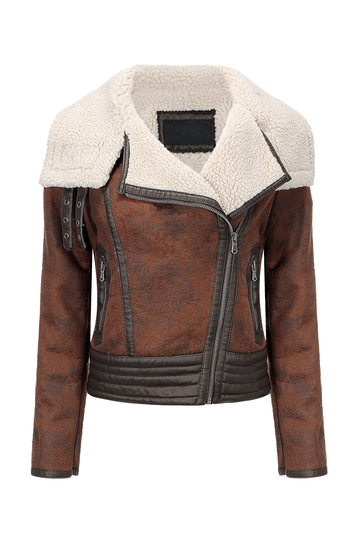 Biker Jacket in Shearling
