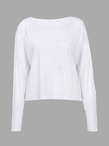 White Blouse with One pocket