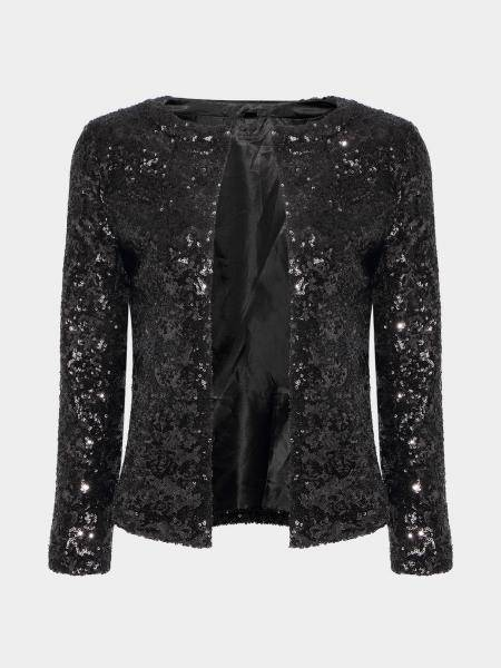 Blazer avec Sequin Detail in Black