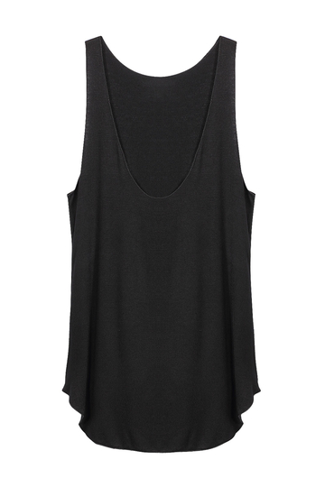 Nero Scoop Neck Vest modale