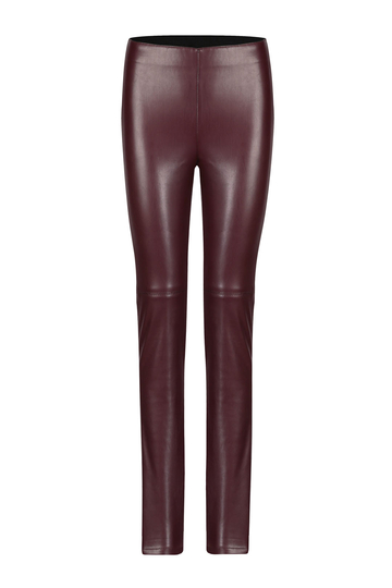High-rise Waist Leather Look Leggings