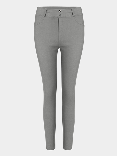 Grey Simple Ladies Leggings Style Fashion