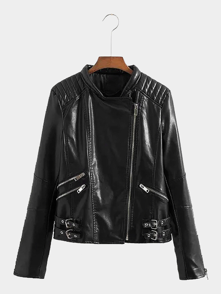 Leather-look Biker Jacket