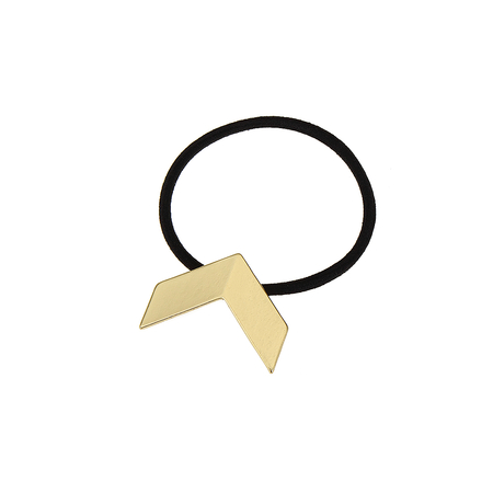 Gold V-shaped Hair Tie