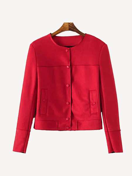 Red Suedette Jacket