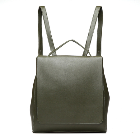 Green Fashion PU leather look Backpack