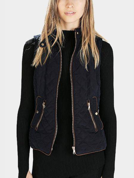 Quilted Gilet in Dark Blue