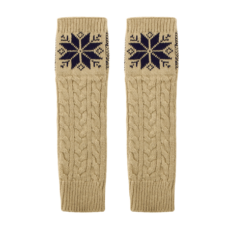 Long Fingerless Knitted Gloves