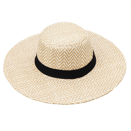 Surdimensionné Natural Wide Brim Plage Floppy Straw Hat