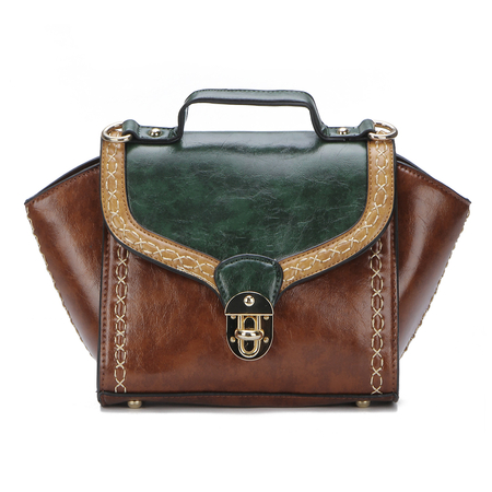 Verde di stile dell'annata Cambridge Bag