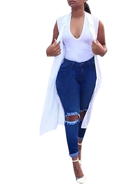 Skinny High Waist Ripped Jeans