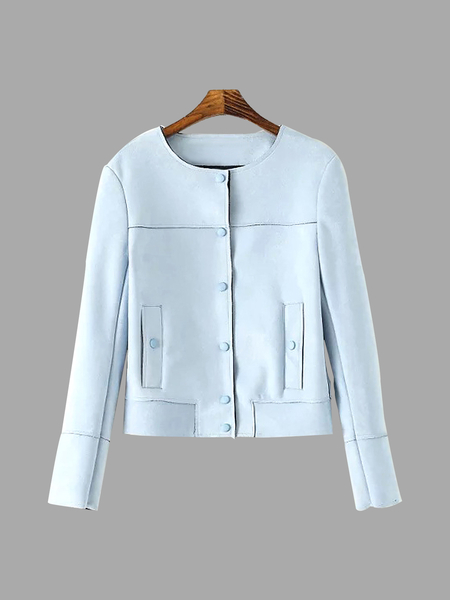 Light Blue Suedette Jacket