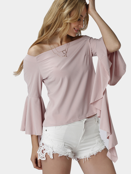 Off Shoulder Shirt with Flared sleeves