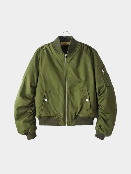 Acolchoado Military Jacket Bomber