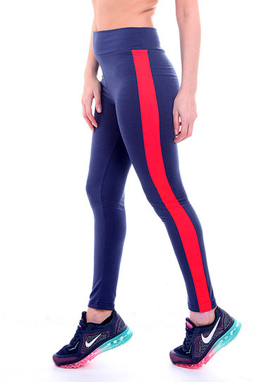 Yoga Leggings With Contrast Side Panel