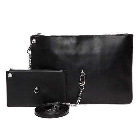 Black Fashion Clutch Bag with Small Bag