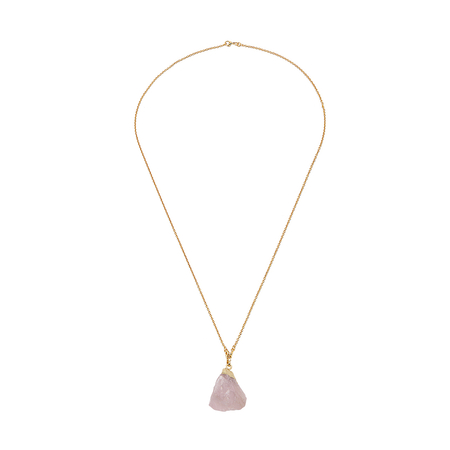 Pink Geode Pendant Necklace