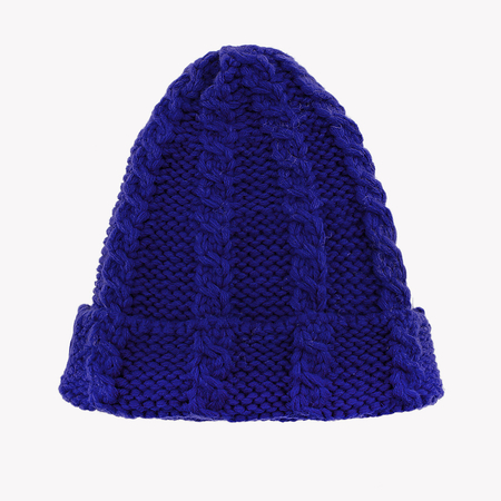 Royal Blue Cable Knit Beanie