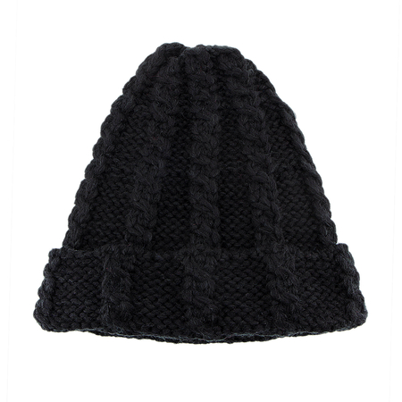 Noir Cable Knit Beanie Hat