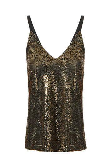 Sequin V-neck Sleeveless Cami