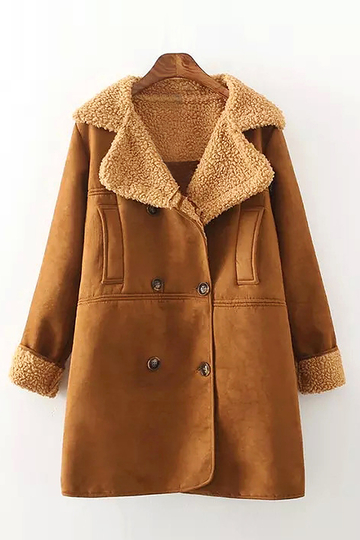 Suede Shearling Coat nel colore