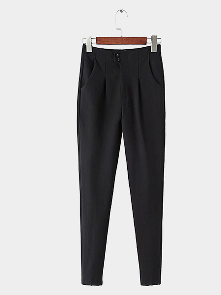 Tapered Trousers in Black