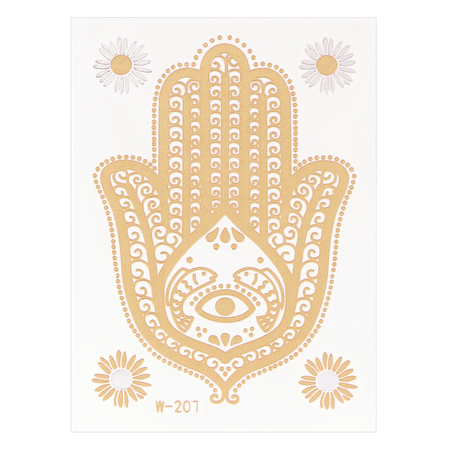 Cactus Metallic temporaire autocollant Body Tattoo