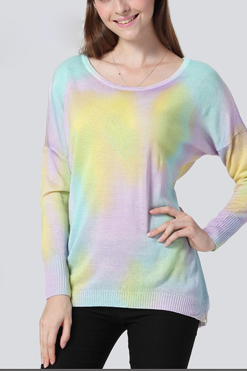Multi Colored Long Sleeve Top