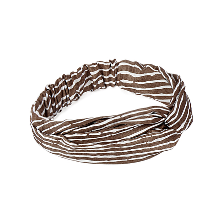 Retro Striped Twisted Headband with Elasticated Insert