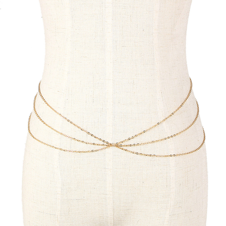 Layered Gold Plated Waist Chain