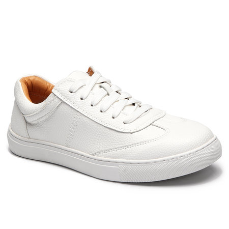 White Causal Lace-up Design Shoes