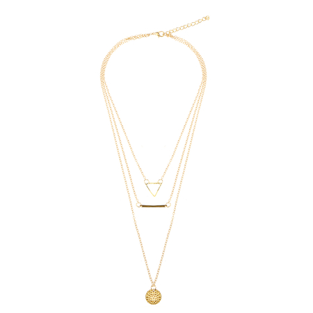 Triangle Bar et collier pendentif Layered
