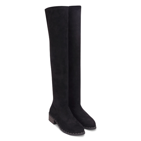 Suedette Over The Knee Studding Boots