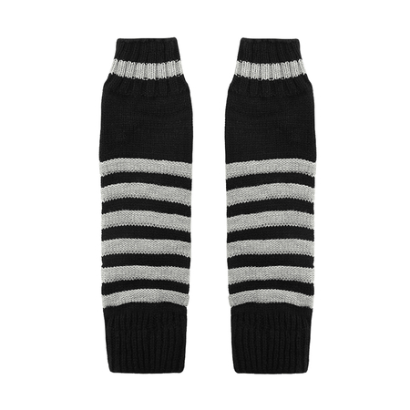 Longline Striped Arm Warmer Gloves
