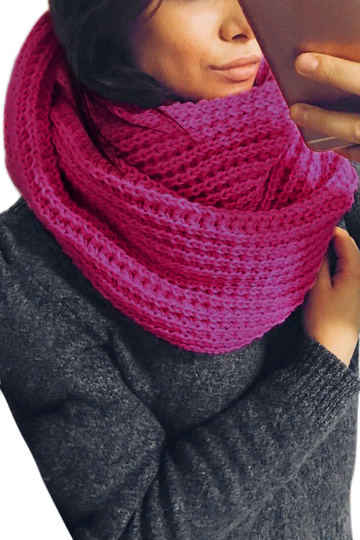 Rose Cosy Knitted Infinity scarf