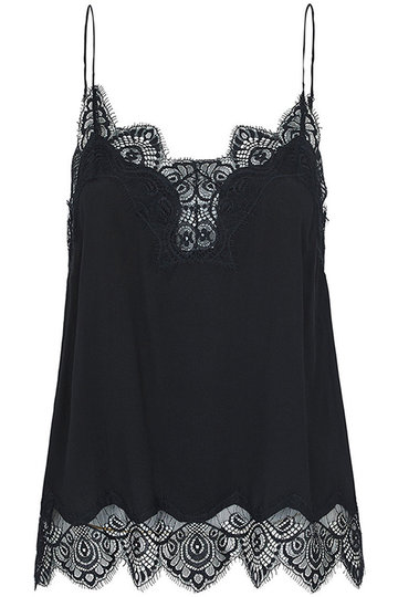 Casual Lace Details Camis in Black