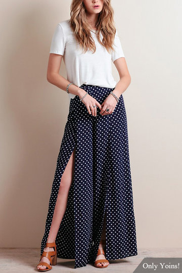 Polka Dot Imprimer Taille haute Culottes