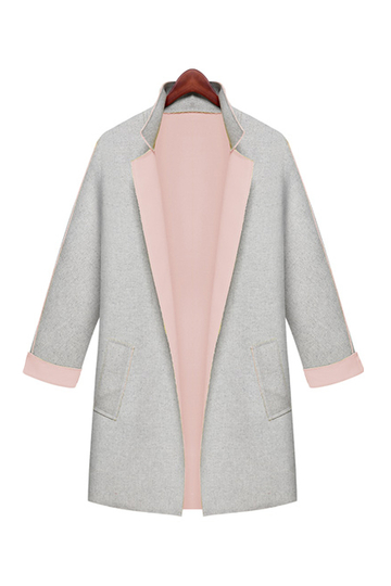 Plus Size Lapel Coat