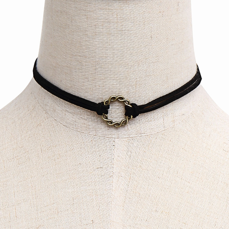 Rings Double-Layered Choker Necklace