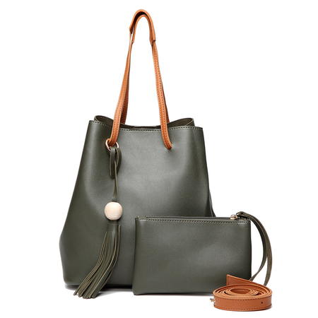 Verde Fashoin nappa spalle decorate Bag