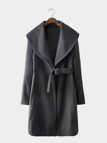Waterfall Coat with Belt