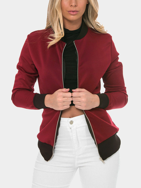 Red Fashion Bomber Jacket