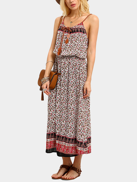 Bohemia Style Sleeveless Maxi Dress