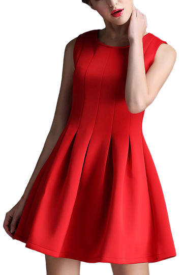 Red mangas Skater Dress