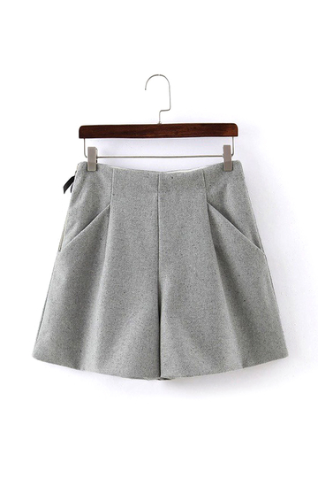 Wide Leg Shorts in Grey