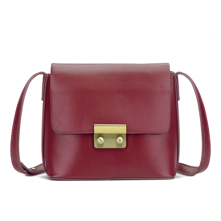 Red Leather-look Borsa a tracolla