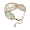 Cream Cabochon Stone Cut Out Bracelet