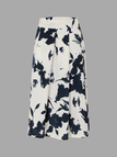 Pleated Skirt In Ink Paining Pattern