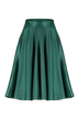 Midi Pleated Skirt In Green